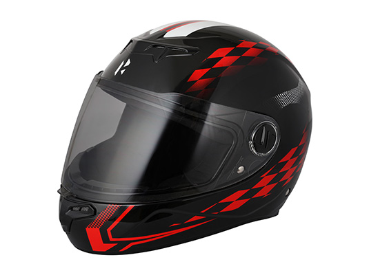 Glamour Night Glow Helmet Glossy Red & Black S