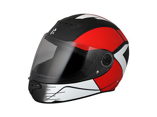 Passion Night Glow Helmet Matt Red & Black S