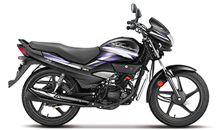 New Super Splendor IBS Black with Electric Purple